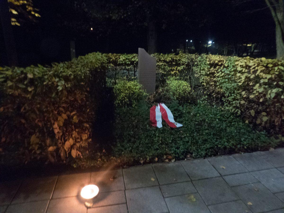 Gedenkstein an der Kurparkstraße