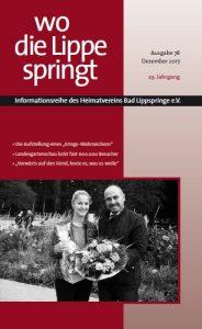 """Titelbild der 78. Ausgabe der Zeitschrift """"Wo die Lippe springt"""" vom Dezember 2017"""