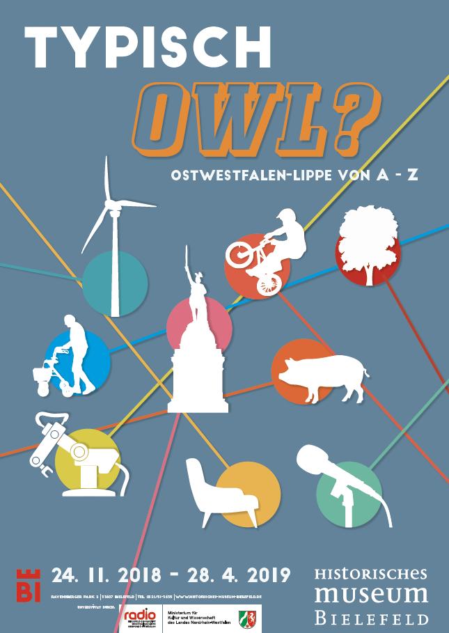 Plakat zur Ausstellung in Bielefeld