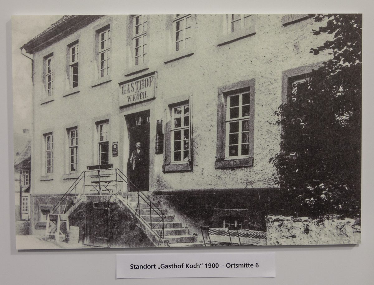 Gasthof Koch, erste Geschäftsstelle der Spar- und Darlehnskasse Schlangen.