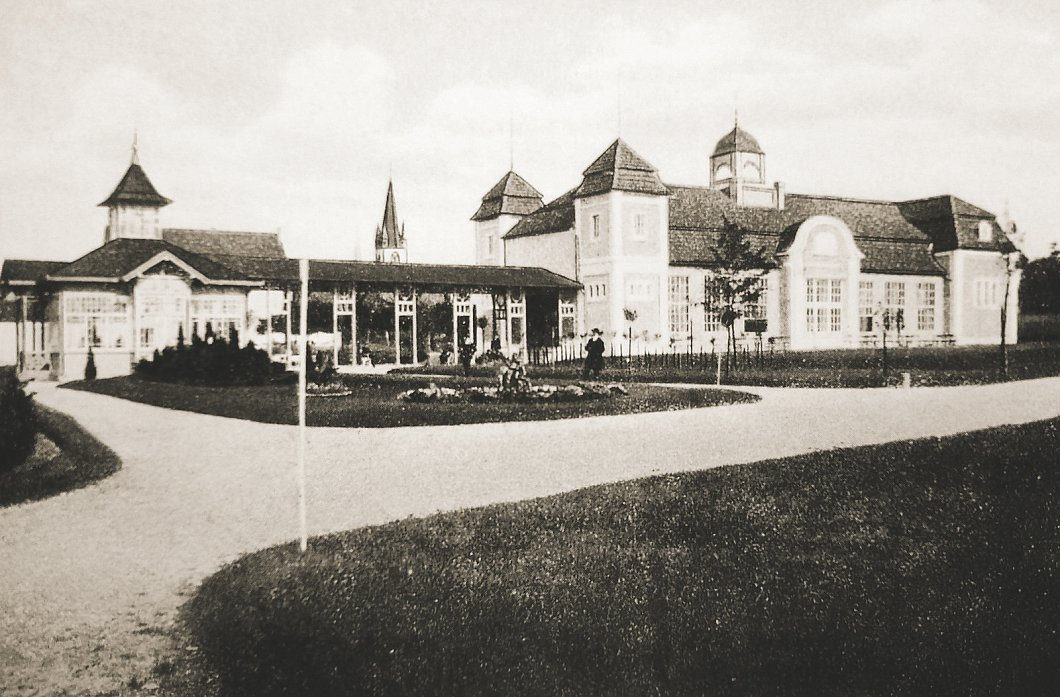 Das neue Kurbad von der Westseite Im Concertsaal wurden die erste Filme in Bad Lippspringe gezeigt.