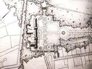 Plan der neuen Parkanlagen im Kaiser-Karls-Park, um 1954