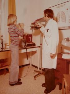 Auguste-Victoria-Stift, Atemtest Therapie, 1977