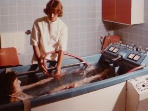 Auguste-Victoria-Stift, Patientenbad, ca. 1974
