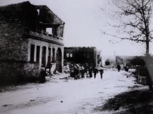 Brand in Lippspringe Martinstraße Standort beim Kirchturm Richtung Westen