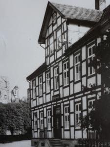 Damaliges Rathaus Bad Lippspringe, komplette Fassade, ca. 1925
