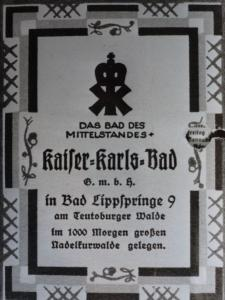 Kaiser-Karls-Bad, Werbeanzeige ca. 1927,2
