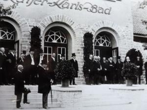 Kaiser-Karls-Bad Gebäude Besuch von Oberpräsident Gronowski aus Münster, 13.06.1925